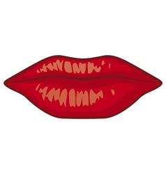 sensuality lips vector image vector image