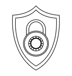 Shield with key lock vector