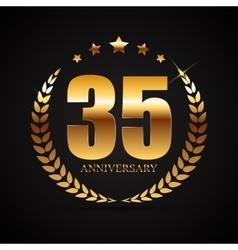 Template logo 35 years anniversary vector