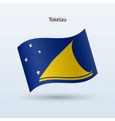 Tokelau flag waving form vector image
