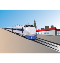 train illustration vector image vector image
