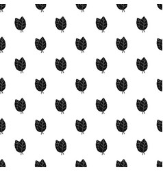 Two basil leaves pattern vector