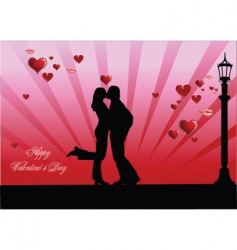 valentine kiss vector image vector image