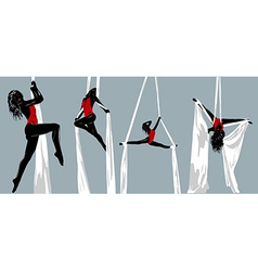 Woman gymnast vector