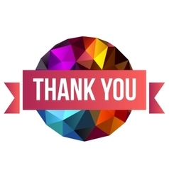 Sign thank you on abstract background vector
