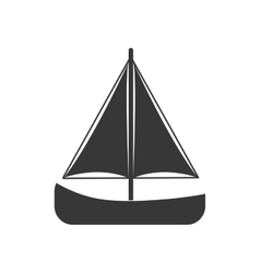 Sailboat sea lifestyle nautical marine icon vector