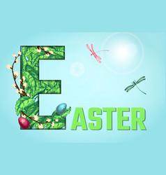 easter sketch bg vector image