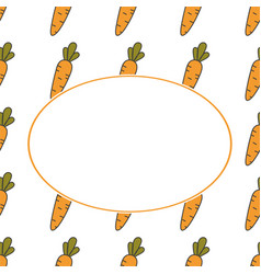 Carrot hand drawn banner hand drawn ornate for vector
