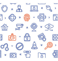 Data security and safe pattern background vector