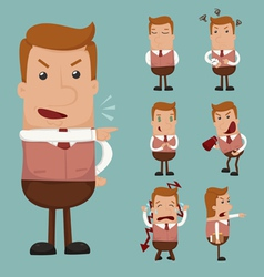 Set of businessman emotion vector