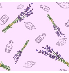 Seamless pattern with lavender vector