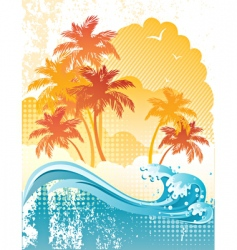 beach poster vector image