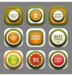 Set of modern design labels eps 10 vector
