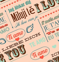 I love you in different languages seamless vector