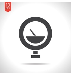 Color flat manometer icon vector