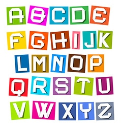 Alphabet - colorful paper sheets vector