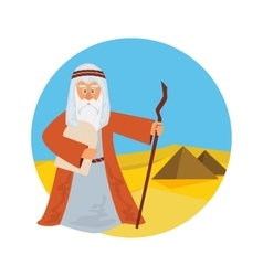 Moses Splitting The Sea - Moses splitting the red vector image