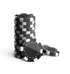 Casino chips isolated on white realistic theme vector