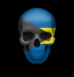Bahamian flag skull vector