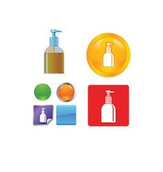 Bathroom and hygiene icon vector image vector image