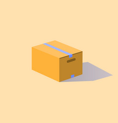 carton box sealed with tape vector image