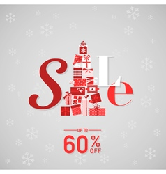 Christmas sale poster or banner vector