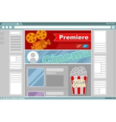 Cinema site interface design vector image