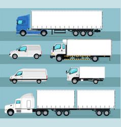 City commercial transport isolated set vector