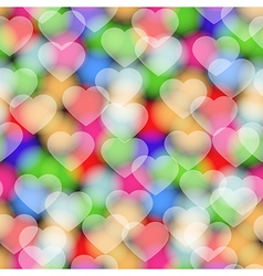 Colors hearts seamless pattern vector image vector image