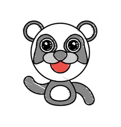 Draw panda animal comic vector