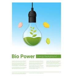 Energy concept background with bio energy vector