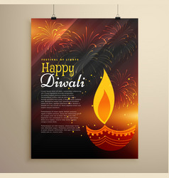 Festival celebration flyer design for diwali vector