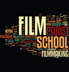 Film school paris text background word cloud vector