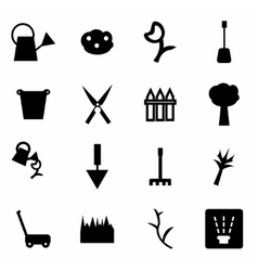 Gardening icon set vector