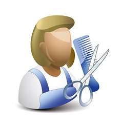 Hairstylist icon vector