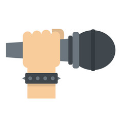 Hand microphone icon isolated vector