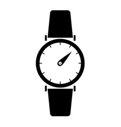 hand watch the black color icon vector image vector image