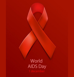 Hiv awareness red ribbon world aids day concept vector