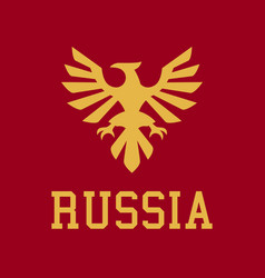 logo russia the proud eagle heraldry vector image vector image
