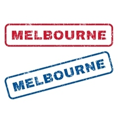 Melbourne rubber stamps vector