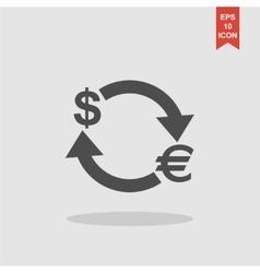 Money convert icon Euro Dollar vector image