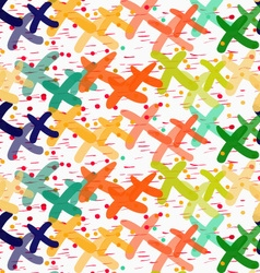 Painted overlapping xes with dots vector