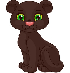Panther cub vector image vector image