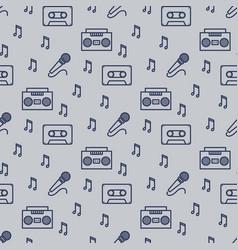 retro musician seamless pattern design vector image