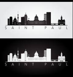 Saint paul usa skyline and landmarks silhouette vector
