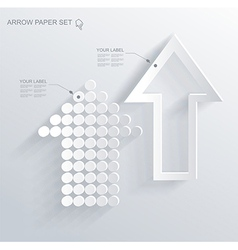 set of white different paper arrows vector image