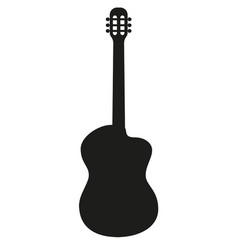 Silhouette of classical acoustic guitar vector