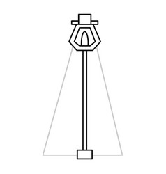 street light isolated vector image