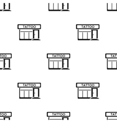 Tattoo salon building parlor icon black single vector