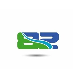 Template logo 82nd anniversary 82 years anniversar vector